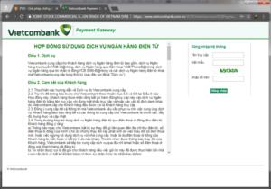 Khách được chuyển về Ngân Hàng của mình để thanh toán Internet Banking